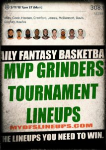 MVP Grinders Club NBA Lineups Results
